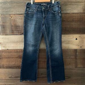 Silver Dark Wash Denim Bootcut Suki Surplus Jeans